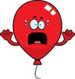 Förskräckt tecknad filmballong Royaltyfria Bilder