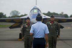 FÖRSLAG FÖR KÄMPE FÖR INDONESIEN NYA FLYGVAPENSTRÅLE royaltyfria foton
