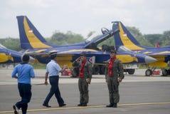 FÖRSLAG FÖR KÄMPE FÖR INDONESIEN NYA FLYGVAPENSTRÅLE arkivbilder