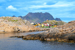 Försommar i de Lofoten öarna Norge Royaltyfri Foto