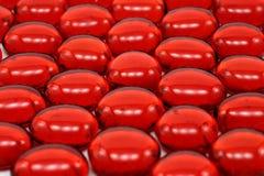 försorterade pärlor mönsan red Royaltyfri Bild