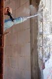 Förstärkning av en förstärkt betong Royaltyfri Foto