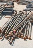 Förstärkning stålsätter bommar för Arkivbild