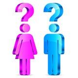 Förstå man- och kvinnabegreppet Royaltyfria Bilder