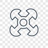 Förstående linjär symbol för begreppsvektor som isoleras på genomskinligt stock illustrationer