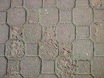förstörd asfalt arkivfoto