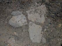 förstörd asfalt royaltyfri bild