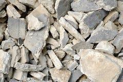 Förstörd betong Arkivfoton