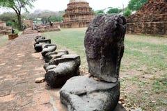 Förstörd Buddha Arkivfoto