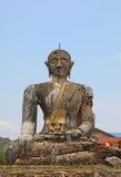 Förstörd Buddha - Laos Arkivbild