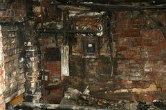 förstörd byggnad Fotografering för Bildbyråer