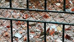 Förstörd byggnadsstruktur lager videofilmer