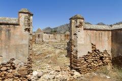 Förstörd fabrik i Spanien Arkivbilder