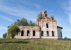 Förstörd gammal ortodox kyrka Royaltyfri Foto
