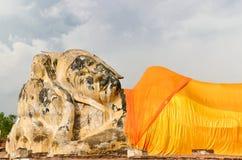 Förstörd gammal tempel av Ayuthaya, Thailand, Royaltyfria Bilder