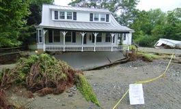 förstörd home orkan irene Royaltyfri Fotografi