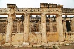 Förstörd kolonn av Hierapolis arkivbild