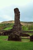 Förstörd Llanthony priorskloster, Abergavenny, Monmouthshire, Wales, UK Arkivbild