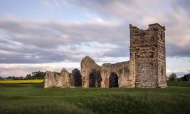 Förstörd Mediaeval kyrka Arkivbilder