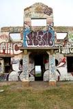 Förstörd nattklubb i Ballito Royaltyfri Bild