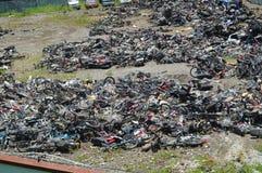 Förstörd olaglig operation av den elektriska cykeln Royaltyfri Fotografi
