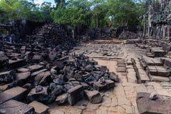 Förstörd plats av den Bayon templet Royaltyfri Fotografi