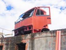 Förstörd taxilastbil Royaltyfria Foton