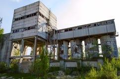 Förstörd tegelstenfabrik Royaltyfri Foto