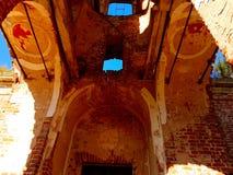 Förstörd tempel royaltyfri foto