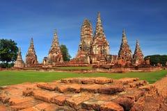 förstörd thailand för ayutthayachaiwattanaram wat Royaltyfri Foto