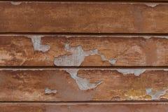 Förstörd vägg för åldrig apelsin sprucken murbruk Detaljerad tappningbakgrund royaltyfri foto