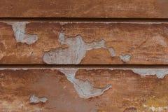 Förstörd vägg för åldrig apelsin sprucken murbruk Detaljerad tappningbakgrund royaltyfria bilder