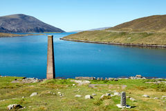 Förstörd Whalingstation, Isle av Harris, Skottland Royaltyfri Bild