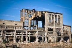 Förstörda byggnader Arkivfoton