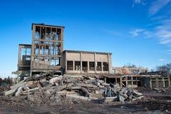 Förstörda byggnader Arkivbilder