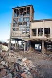 Förstörda byggnader Arkivbild