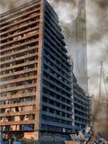 Förstörda byggnader vektor illustrationer