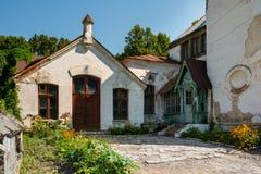 Förstörda byggnader för ukrainare Arkivfoto