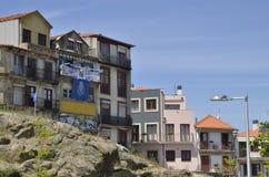 Förstörda hus i Porto Arkivbilder