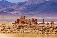 Förstörda Kasbah El Mansour Eddahbi Ouarzazate morocco Royaltyfria Foton