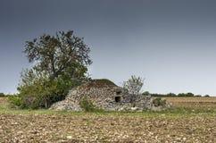 Förstörda Pagliaio, Apulia - Italien Arkivbilder