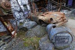 Förstörelse av ett sportcar Arkivbild