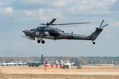 Förstörelse Mi-28 Arkivbilder