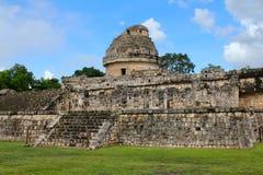 Forntida Mayan observatorium arkivbild
