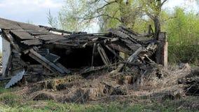 Förstört gammalt tegelstenhem lager videofilmer