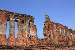 Förstört gammalt tempel Arkivbilder