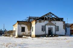 förstört hus royaltyfri fotografi
