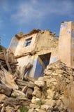 Förstört hus Royaltyfri Bild