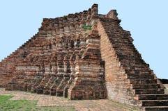 Förstört tempel på Wat Rakhang Royaltyfri Bild