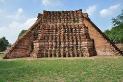 Förstört tempel på Wat Rakhang Arkivbild